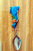 Отдается в дар Чайная ложечка с декором из полимерной глины