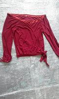 Отдается в дар Красная блузка с запахом р.46-48