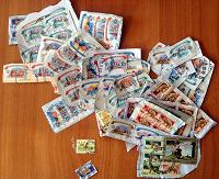 Отдается в дар Гашёные отечественные марки.