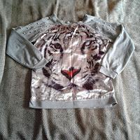 Отдается в дар дарю джемпер с тигром и шипами рост 170 см размер 46