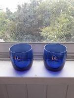 Отдается в дар пара синих стаканов «Люминарк»