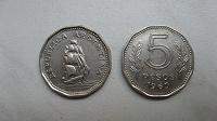 Отдается в дар Монета 5 песо 1963 Аргентина Корабль