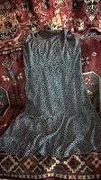 Отдается в дар Платье черное в горошек.