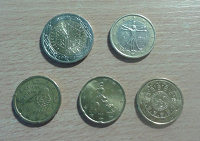 Отдается в дар Несколько евромонет