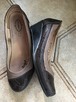 Отдается в дар Туфли р 40 на широкую ногу БУ