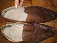 Отдается в дар Туфли мужские коричневые кожа 43-44 р.
