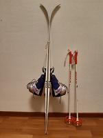 Отдается в дар детские лыжи Tisa + палки + ботинки (30 размер)