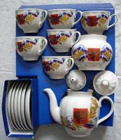 Отдается в дар Чайный сервиз с патриотической символикой