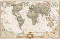Отдается в дар Карта мира, плакат