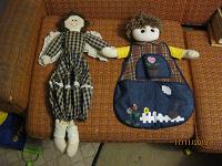 Отдается в дар интерьерные тряпичные куклы