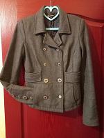 Отдается в дар Полупальто Monton, пиджак-пальто, шерстяной пиджак осенний