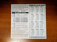 Отдается в дар Календарь — лотерейный билет