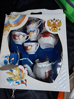 Отдается в дар Сервиз чашки, блюда, чайник, сахарница