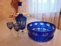Отдается в дар Хрусталь: графин, рюмки, ваза для фруктов