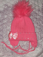 Отдается в дар Зимняя шапка на девочку
