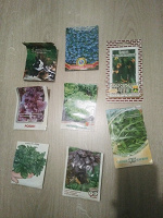 Отдается в дар Набор цветочных горшков с землей и семена