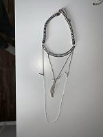 Отдается в дар Колье, украшение, бусы в стиле бохо с пером (бижутерия)
