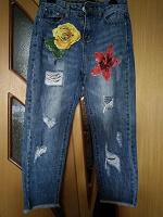 Отдается в дар джинсы р.42 (укороченные)