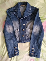 Отдается в дар Джинсовая куртка 44 размер