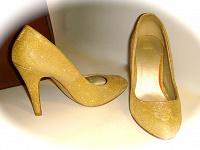 Отдается в дар Золотые туфельки, раз. 36