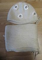 Отдается в дар вязаные шапка и шарф