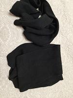 Отдается в дар Два черных шарфа шерсть
