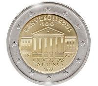 Отдается в дар 2-х евровая монетка Эстония