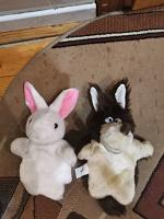 Отдается в дар Мягкие игрушки Заяц и Волк