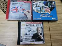 Отдается в дар Обучающие диски, английский язык и автокад