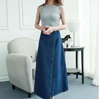 Отдается в дар Длинная джинсовая юбка