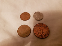 Отдается в дар Греко великобританские монетки