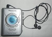 Отдается в дар Кассетный плеер Panasonic с FM радио