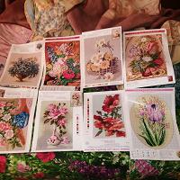 Отдается в дар Схемы для вышивки цветы