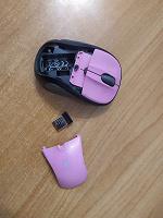 Отдается в дар Компьютерная мышка розового цвета, безпроводная