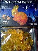 Отдается в дар Пазл 3D зайка — бери и собирай-ка :)