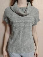 Отдается в дар Серый свитер с коротким рукавом XL (48 рос)