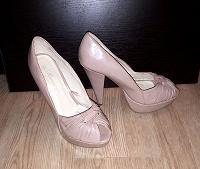 Отдается в дар Нюдовые туфли на высоченных каблуках