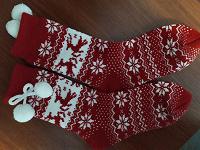 Отдается в дар Носки теплые рождественские