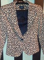 Отдается в дар Пиджак леопардового цвета Odjj размер 40-42