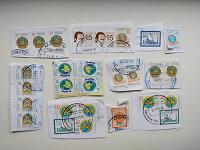 Отдается в дар Марки с конвертов (Казахстан)