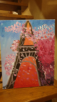 Отдается в дар Картина с Эйфелевой башней