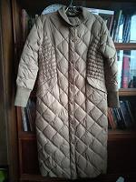 Отдается в дар Зимнее длинное пальто-пуховик р. 46-48