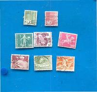 Отдается в дар Стандартные марки Швейцарии