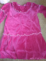 Отдается в дар Нарядное теплое платье 116