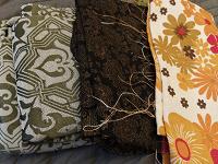 Отдается в дар Много ткани, лоскутов на хм.