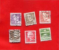 Отдается в дар Стандартные марки Дании.