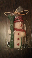 Отдается в дар свеча-снеговик