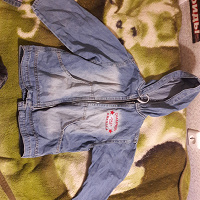 Отдается в дар Тонкая джинсовка