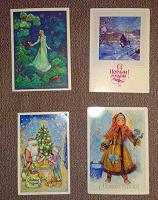 Отдается в дар новогодние открытки СССР, 1980-е годы