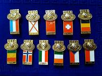Отдается в дар Коллекция значков UEFA 1984 года.